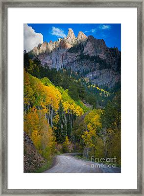Road To Silver Mountain Framed Print by Inge Johnsson
