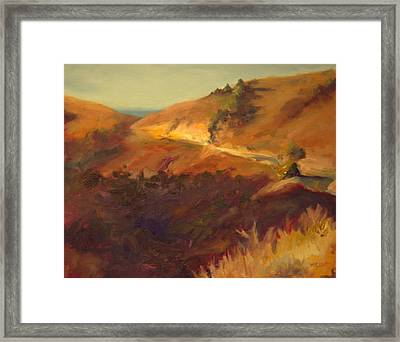 Road To Slide Ranch Framed Print by Margaret Elliott