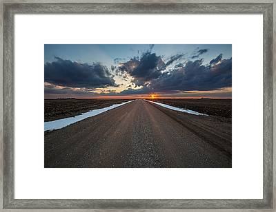 Road To Spring Framed Print