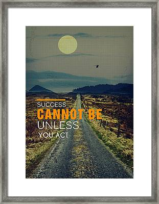 Road To Success Framed Print