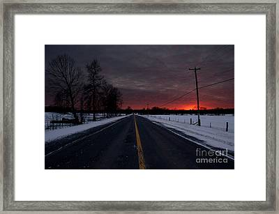 Road To Success Framed Print by Cheryl Baxter