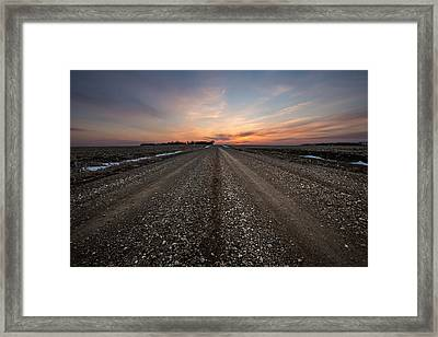 Road To Sunset Framed Print by Aaron J Groen