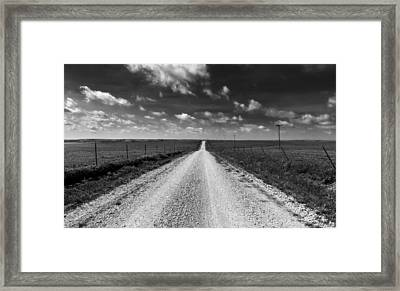 Road To Texaco Hill Framed Print