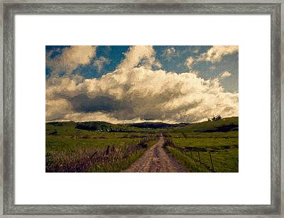 Road To The Clouds. Framed Print