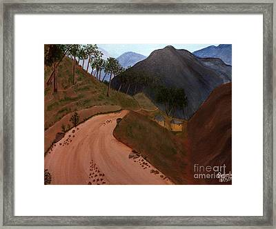 Road To The Hills II Framed Print