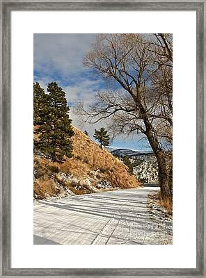 Framed Print featuring the photograph Road To The Lake by Sue Smith