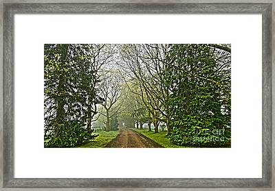 Road To The Manor House Framed Print