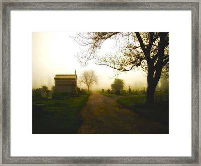 Road To The Mausoleum Framed Print by Gothicrow Images