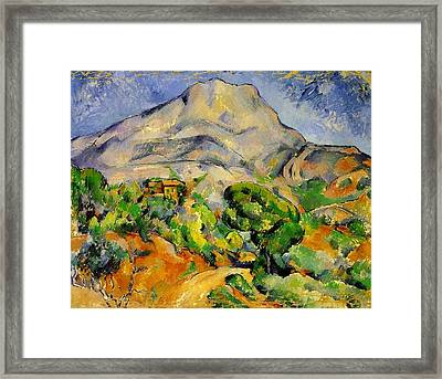Road To The Montagne Sainte-victoire Framed Print by Paul Cezanne