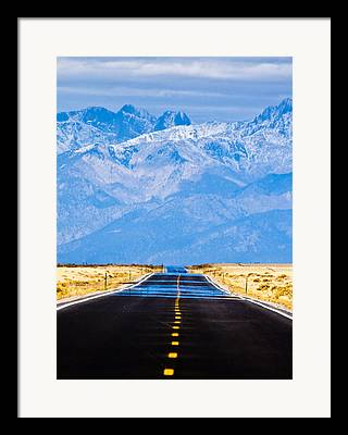 Mountain Road Framed Prints