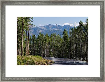 Framed Print featuring the photograph Road To The Mountains by Charles Kozierok