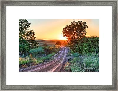 Road To The Sun Framed Print by Jill Van Doren Rolo
