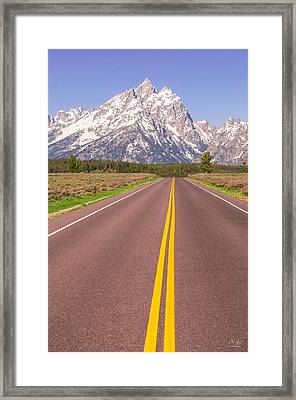 Road To The Tetons Framed Print by Aaron Spong
