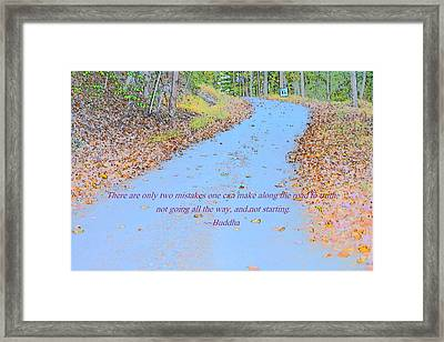 Road To Truth Framed Print by Sonali Gangane
