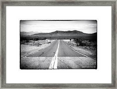 Road To Vegas Framed Print by John Rizzuto