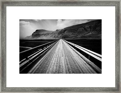 Road To Vik Framed Print by Dave Bowman