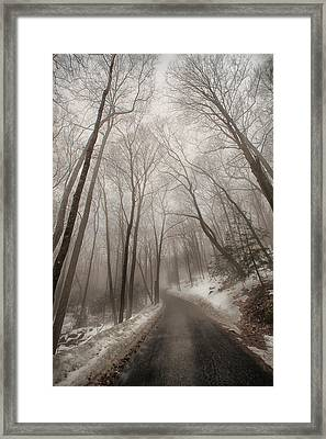 Road To Winter Framed Print by Karol Livote