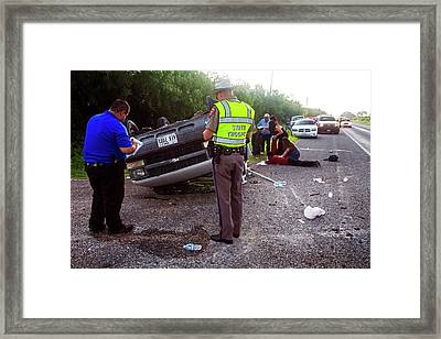 Road Traffic Accident Framed Print by Jim West