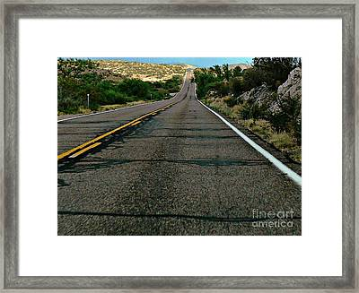 Road Trip Framed Print by Lin Haring
