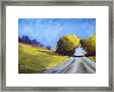 Road Trip Framed Print by Nancy Merkle