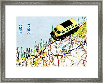 Road Trip - The Pch Framed Print by Benjamin Yeager