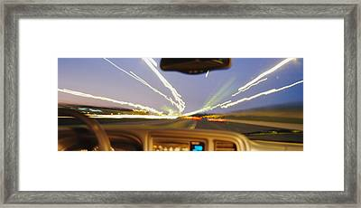 Road Viewed From A Car, Atlanta, Georgia Framed Print by Panoramic Images