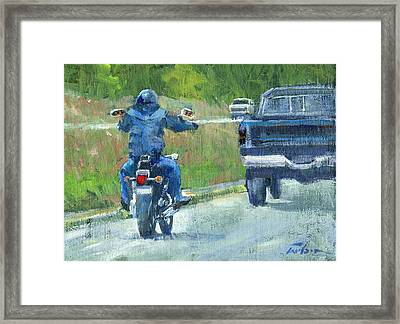 Road Warrior - Cruising Framed Print by Ron Wilson