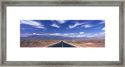 Road Zion National Park, Utah, Usa Framed Print by Panoramic Images