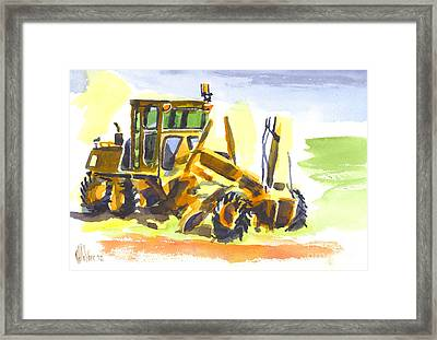 Roadmaster Tractor In Watercolor Framed Print