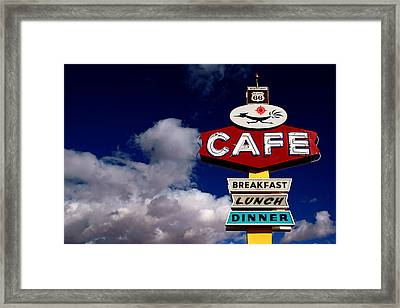 Roadrunner Cafe Framed Print