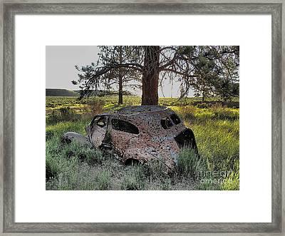 Road's End Framed Print by Roger Gelvick