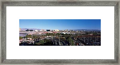 Roads In A City With An Airport Framed Print