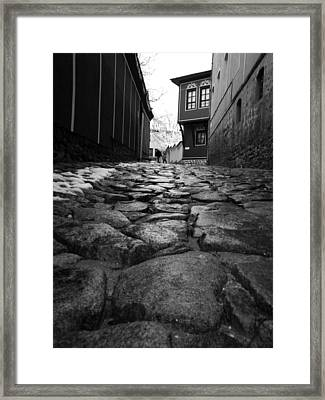 Roads Framed Print by Lucy D