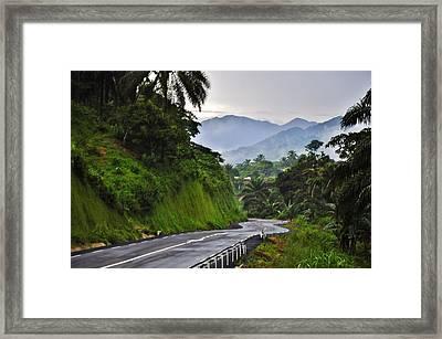 Roads Framed Print by Manu G