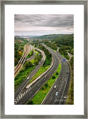 Roads Top View Framed Print