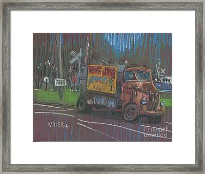 Framed Print featuring the painting Roadside Advertising by Donald Maier