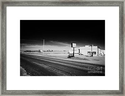roadside co-op service station bengough Saskatchewan Canada Framed Print by Joe Fox