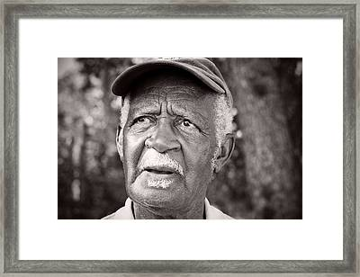 Roadside Farmer Preacher Framed Print