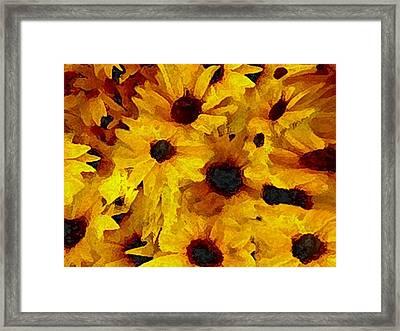 Roadside Flowers Framed Print by Dennis Buckman