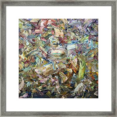 Roadside Fragmentation - Square Framed Print by James W Johnson