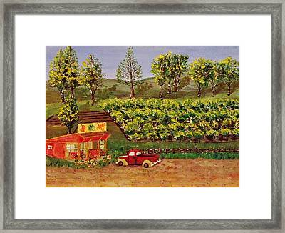 Roadside Fruits And Veggies Framed Print