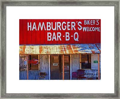 Roadside Hamburger Joint 20130309 Framed Print by Wingsdomain Art and Photography
