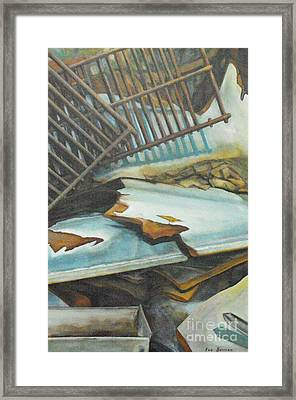 Roadside Junk Framed Print by Eva Berman