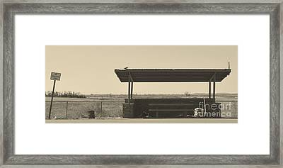 Roadside Rest Framed Print