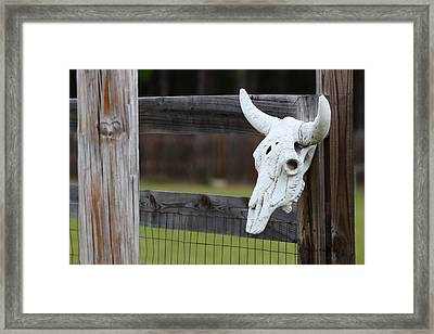 Roadside Rest Framed Print by Paula Rountree Bischoff