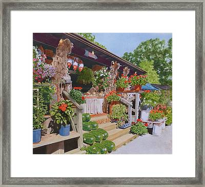 Roadside Stand Framed Print
