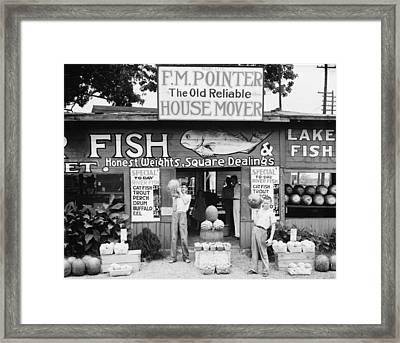 Roadside Stand Near Birmingham Alabama Framed Print by Historic Photos