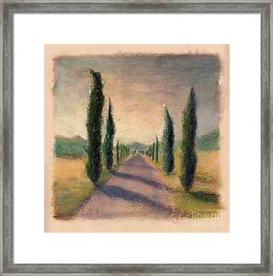 Roadway To Somewhere Framed Print by Logan Gerlock