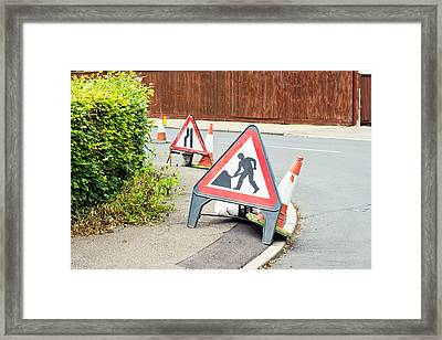 Roadworks Framed Print by Tom Gowanlock