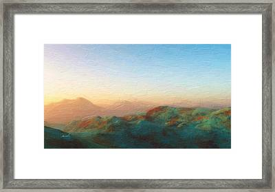 Roaming Hills And Valleys 2 Framed Print